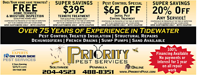 Priority Pest Services Coupon - Free Home Termite Inspection