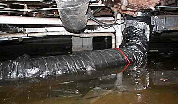 Moisture Damage In Crawlspace